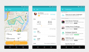 Android fitness app
