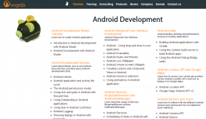 Vogella blog contains every single bit of the data and guidance relevant to the Android development.
