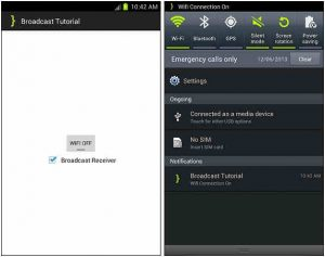 Broadcast receiversare actually creating nexus between Android Operating System and other Android applications
