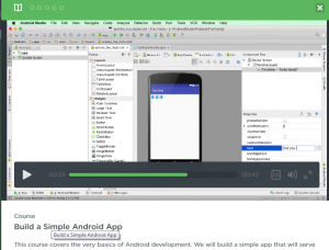 Treehouse provides newbie Android developers with the novel experience of online tutorials.