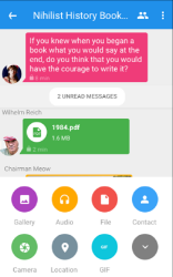 secured messaging application