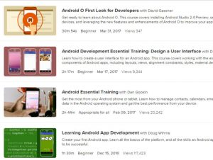 lynda android app tutorials