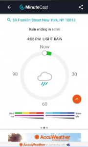AccuWeather provides you with the extended weather forecasts andalso the Android wear support.