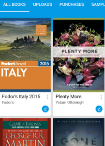 Google play books is a great app in terms of providing a huge collection of books among which some are free while others you can have for a price.