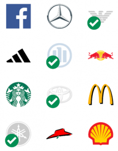 Logo guessing game