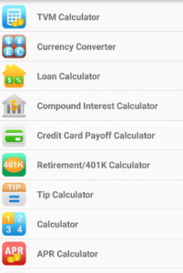 Finance Calculator app