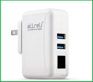 You can charge up to 4 different devices at a time with its USB socket.