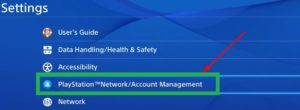 You have to select the PSN on your settings